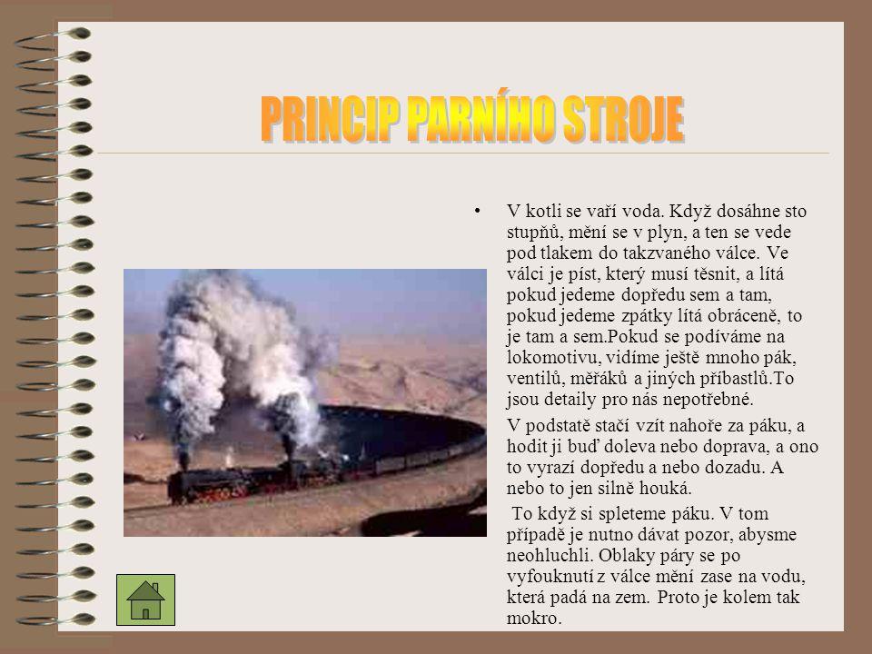 PRINCIP PARNÍHO STROJE
