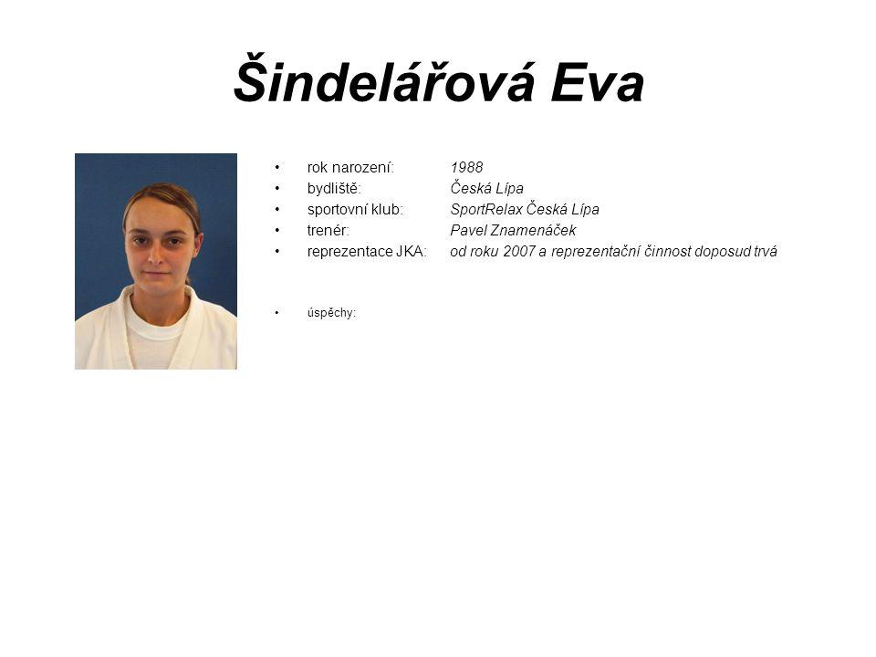 Šindelářová Eva rok narození: 1988 bydliště: Česká Lípa