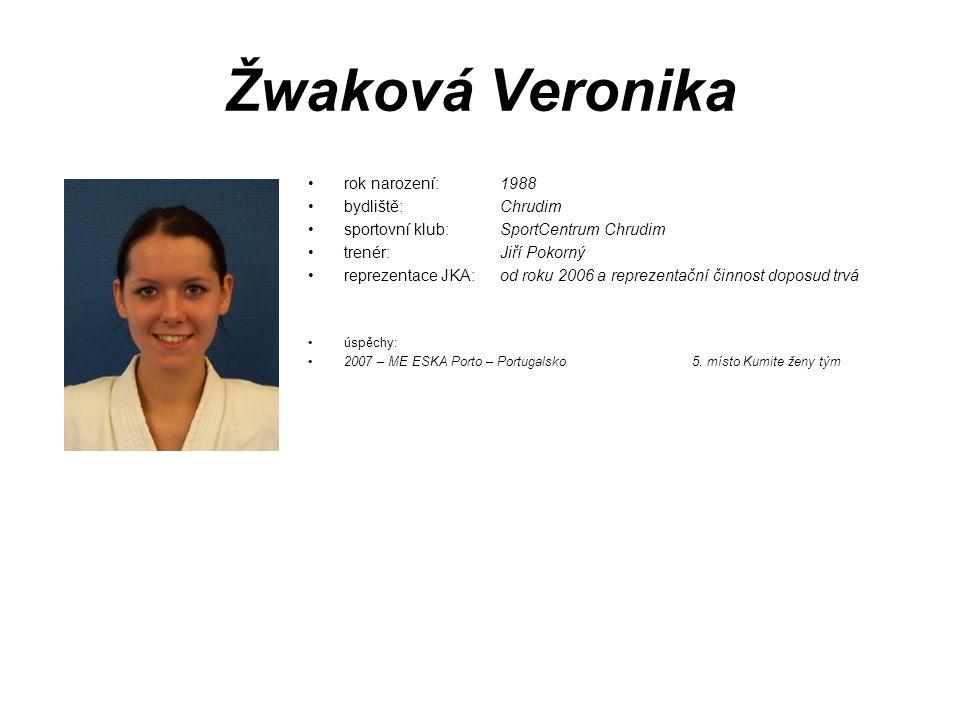 Žwaková Veronika rok narození: 1988 bydliště: Chrudim