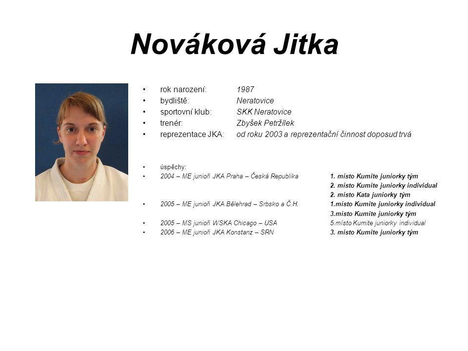 Nováková Jitka rok narození: 1987 bydliště: Neratovice