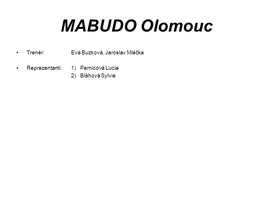 MABUDO Olomouc Trenér: Eva Buzková, Jaroslav Mléčka