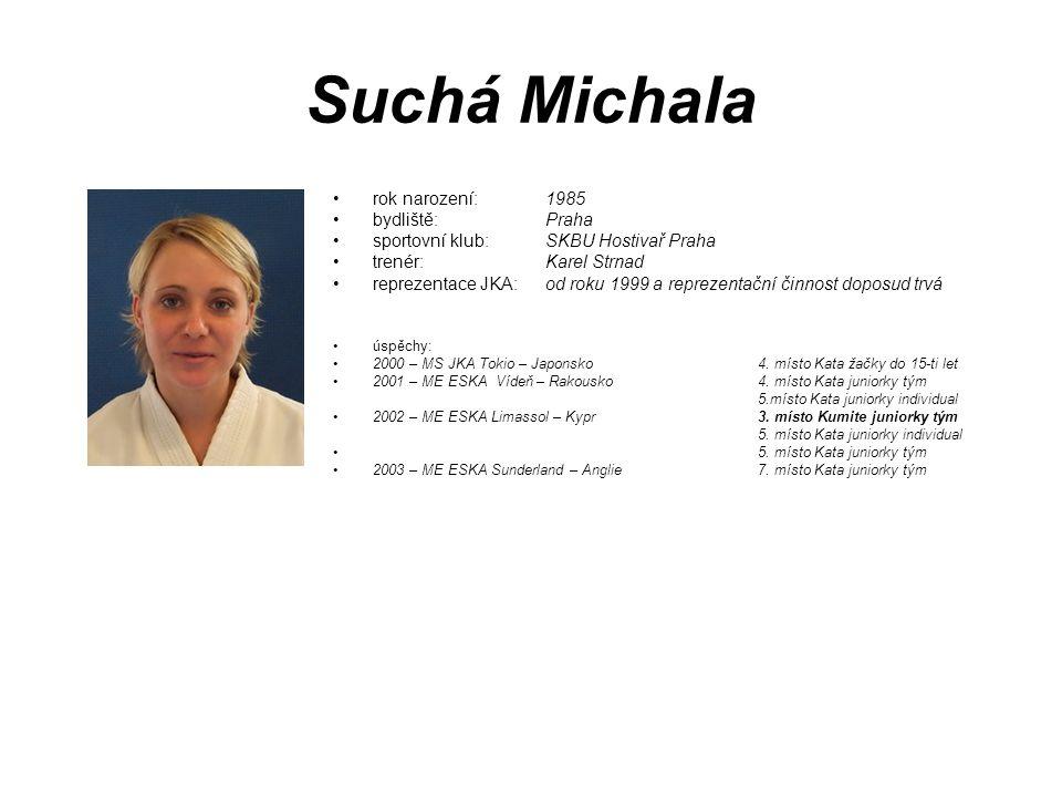 Suchá Michala rok narození: 1985 bydliště: Praha