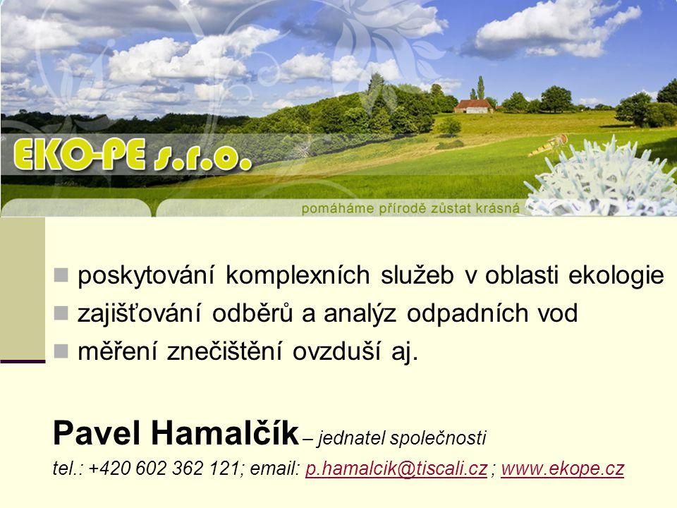 Pavel Hamalčík – jednatel společnosti