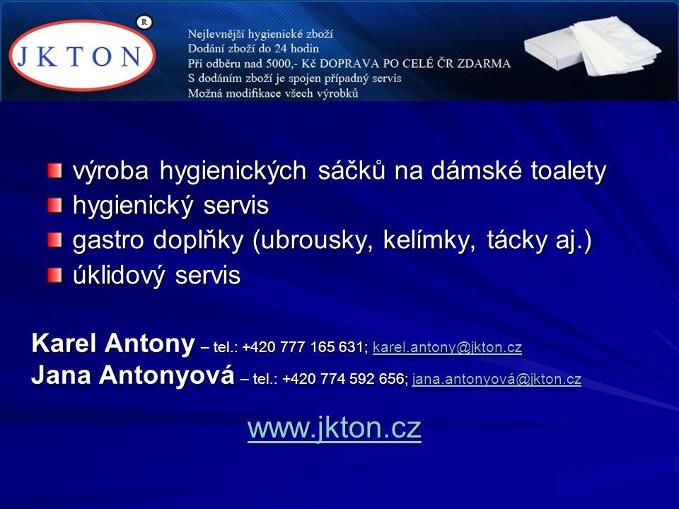 www.jkton.cz výroba hygienických sáčků na dámské toalety
