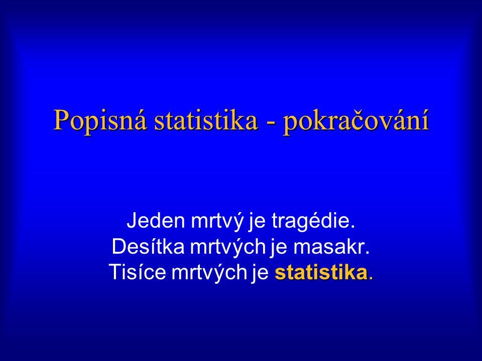 Popisná statistika - pokračování