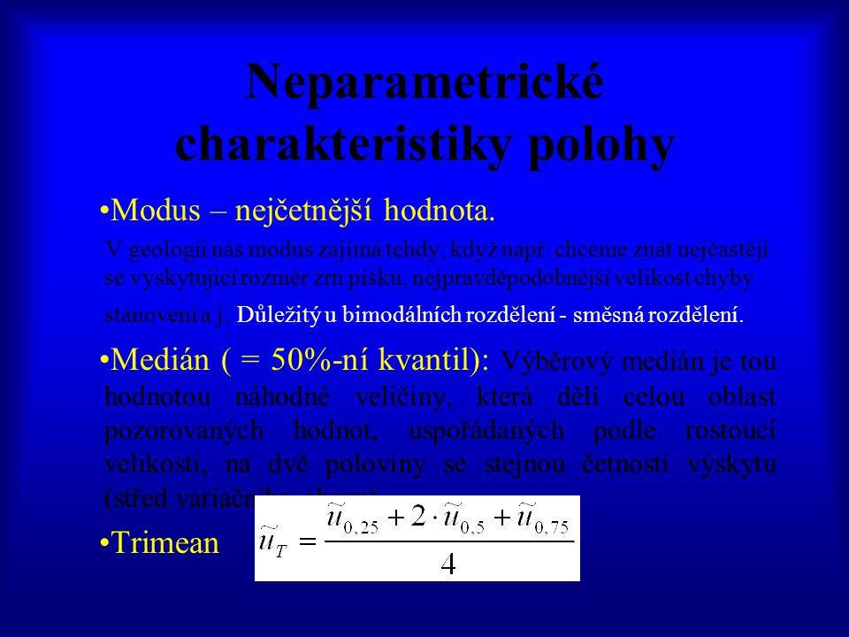 Neparametrické charakteristiky polohy