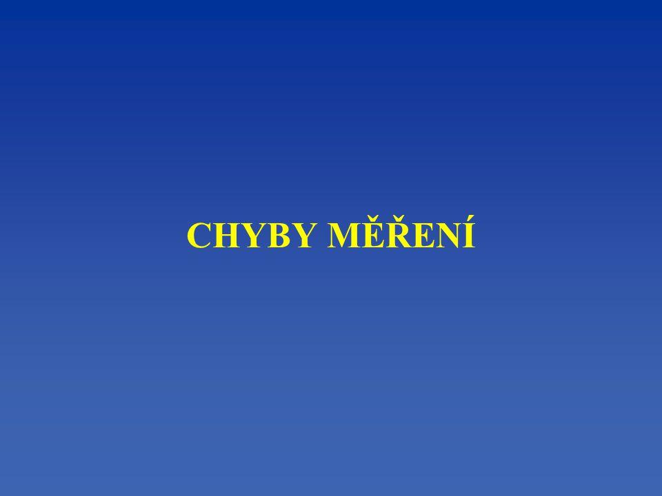 CHYBY MĚŘENÍ