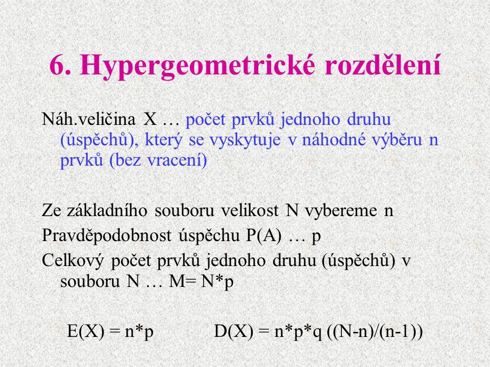 6. Hypergeometrické rozdělení