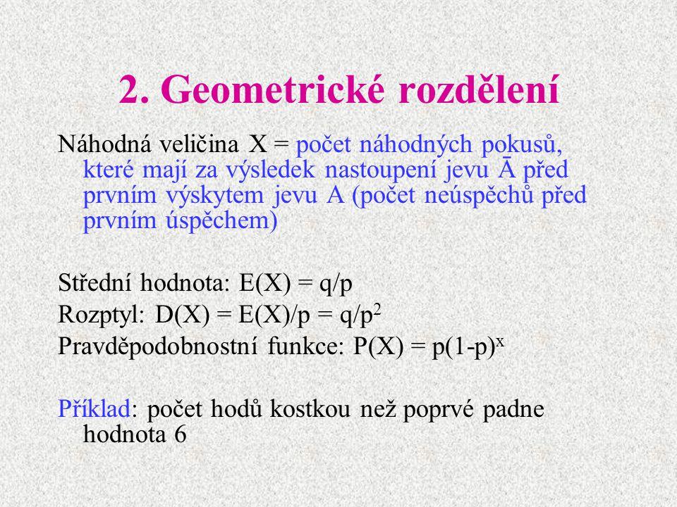 2. Geometrické rozdělení