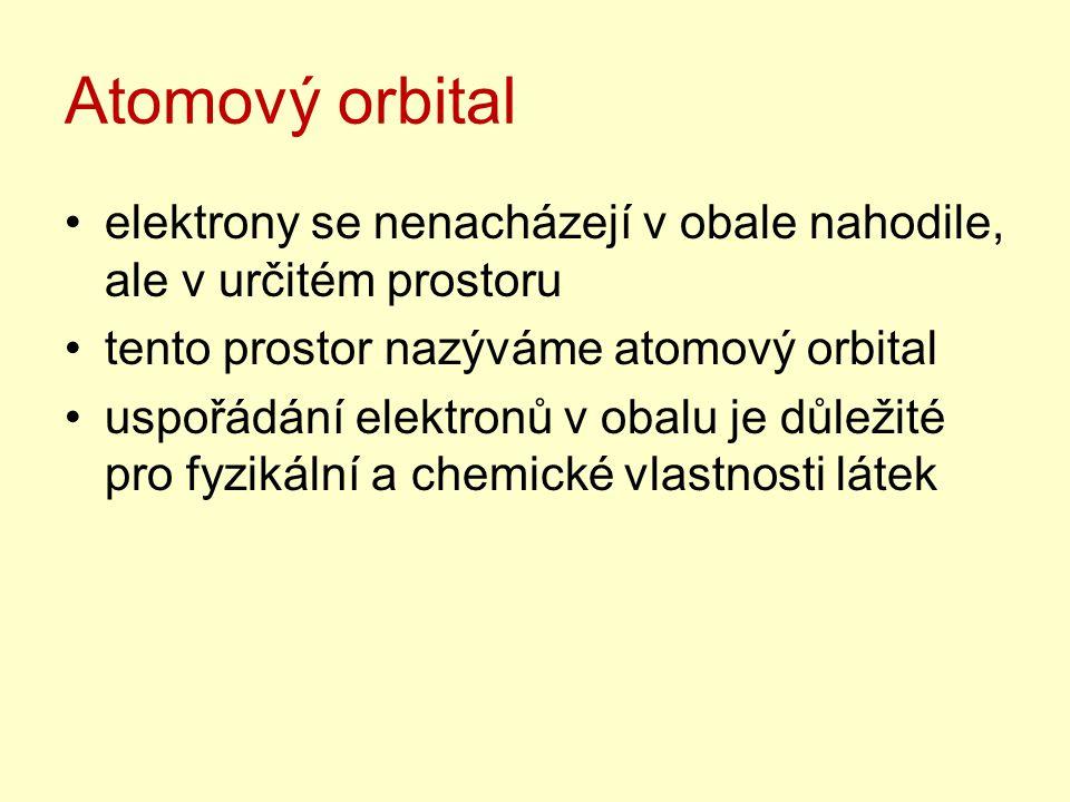 Atomový orbital elektrony se nenacházejí v obale nahodile, ale v určitém prostoru. tento prostor nazýváme atomový orbital.