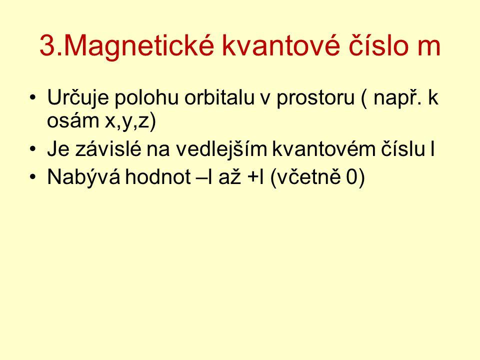 3.Magnetické kvantové číslo m