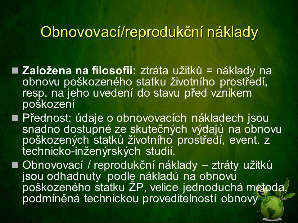 Obnovovací/reprodukční náklady