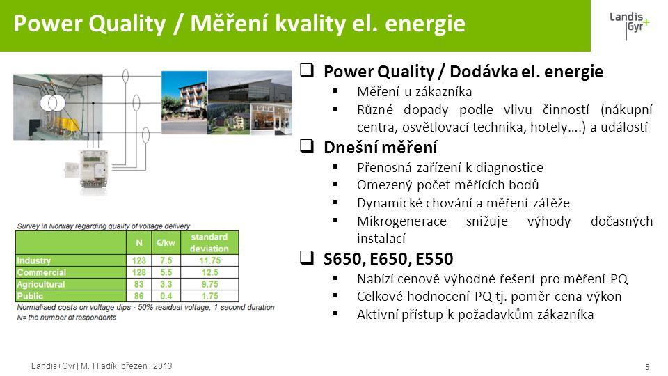 Power Quality / Měření kvality el. energie