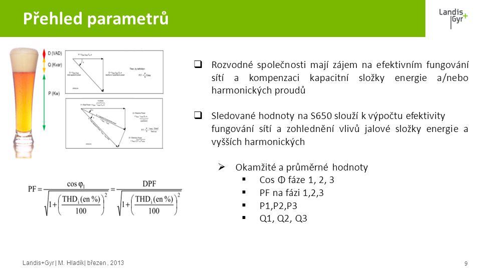 Přehled parametrů Rozvodné společnosti mají zájem na efektivním fungování sítí a kompenzaci kapacitní složky energie a/nebo harmonických proudů.