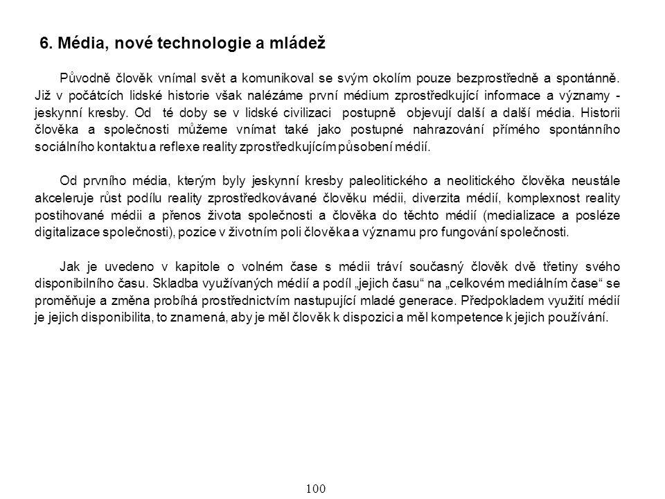 6. Média, nové technologie a mládež