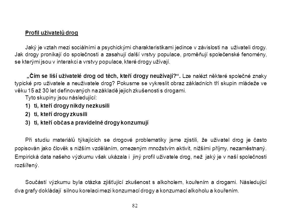 Profil uživatelů drog