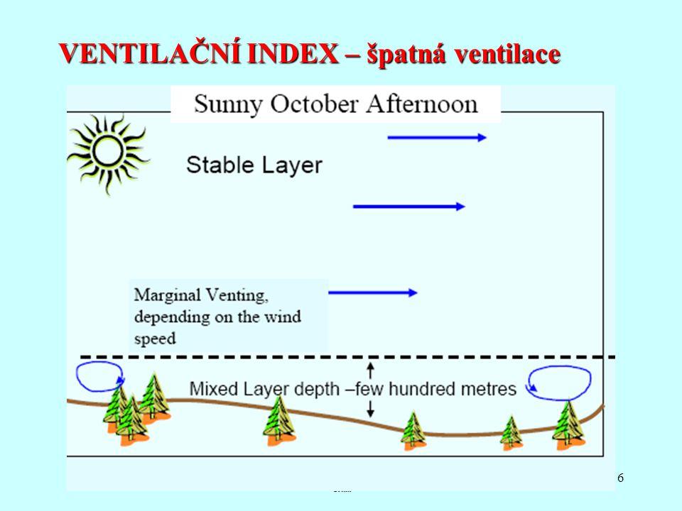 VENTILAČNÍ INDEX – špatná ventilace