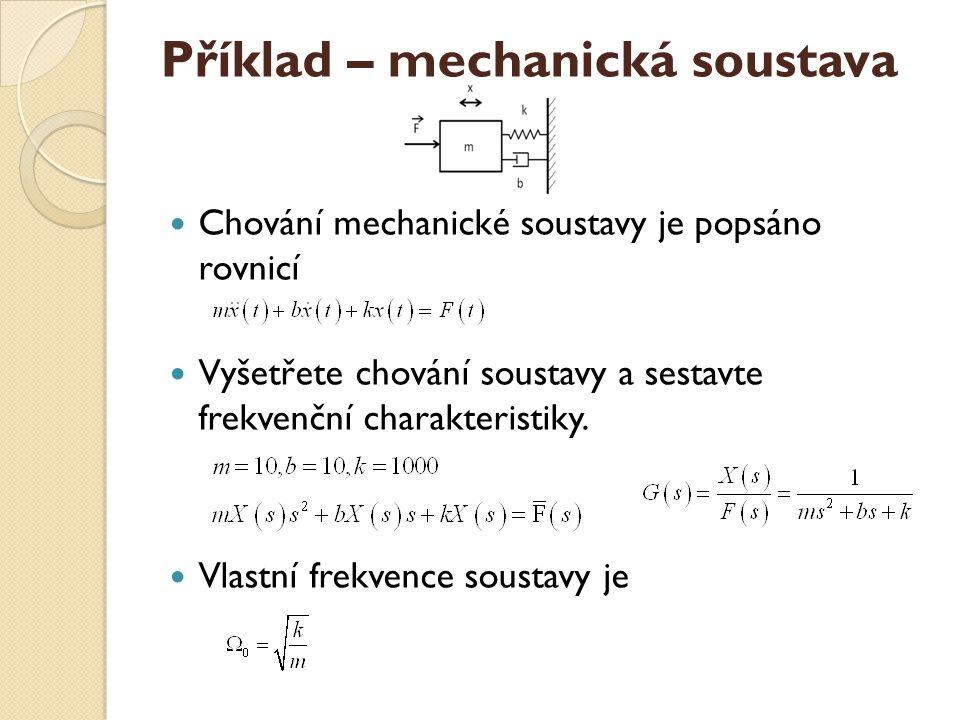 Příklad – mechanická soustava