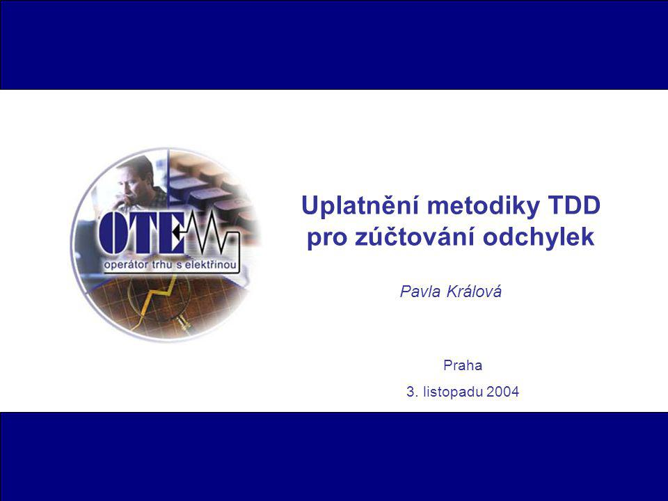 Uplatnění metodiky TDD pro zúčtování odchylek Pavla Králová