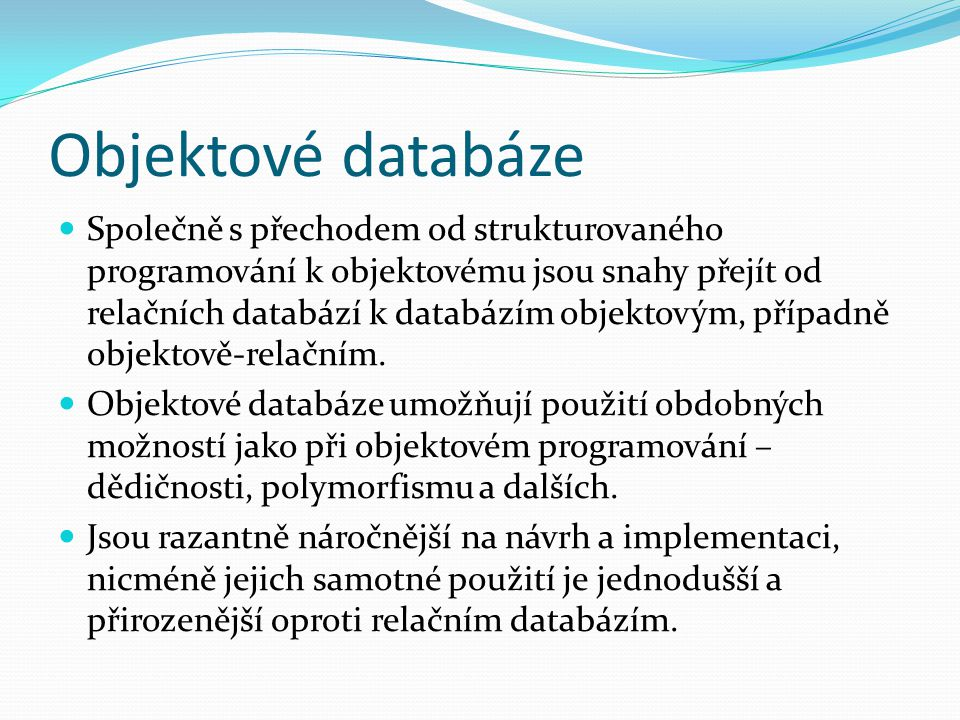 Objektové databáze