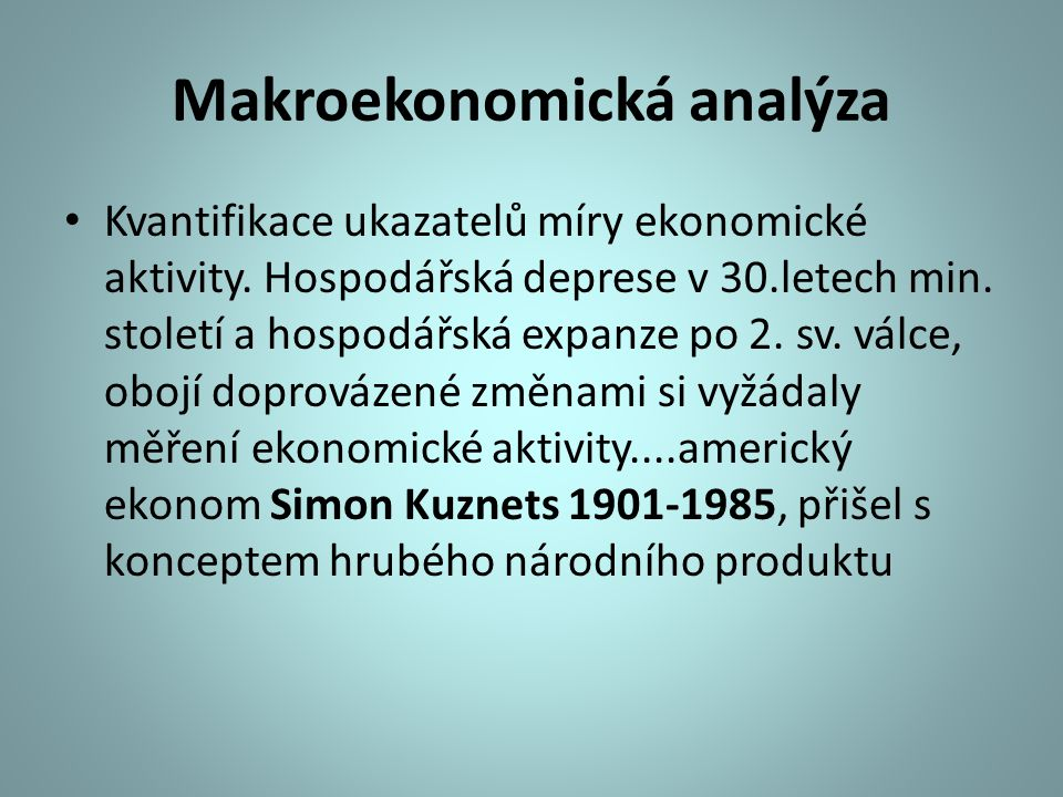 Makroekonomická analýza