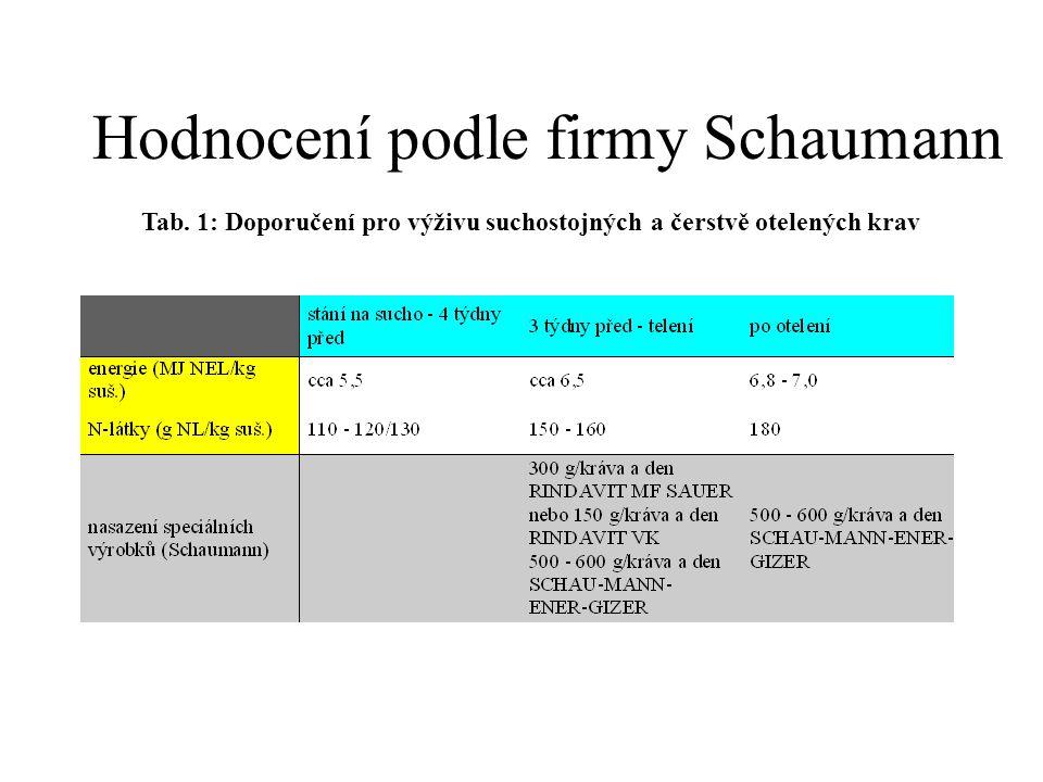 Hodnocení podle firmy Schaumann
