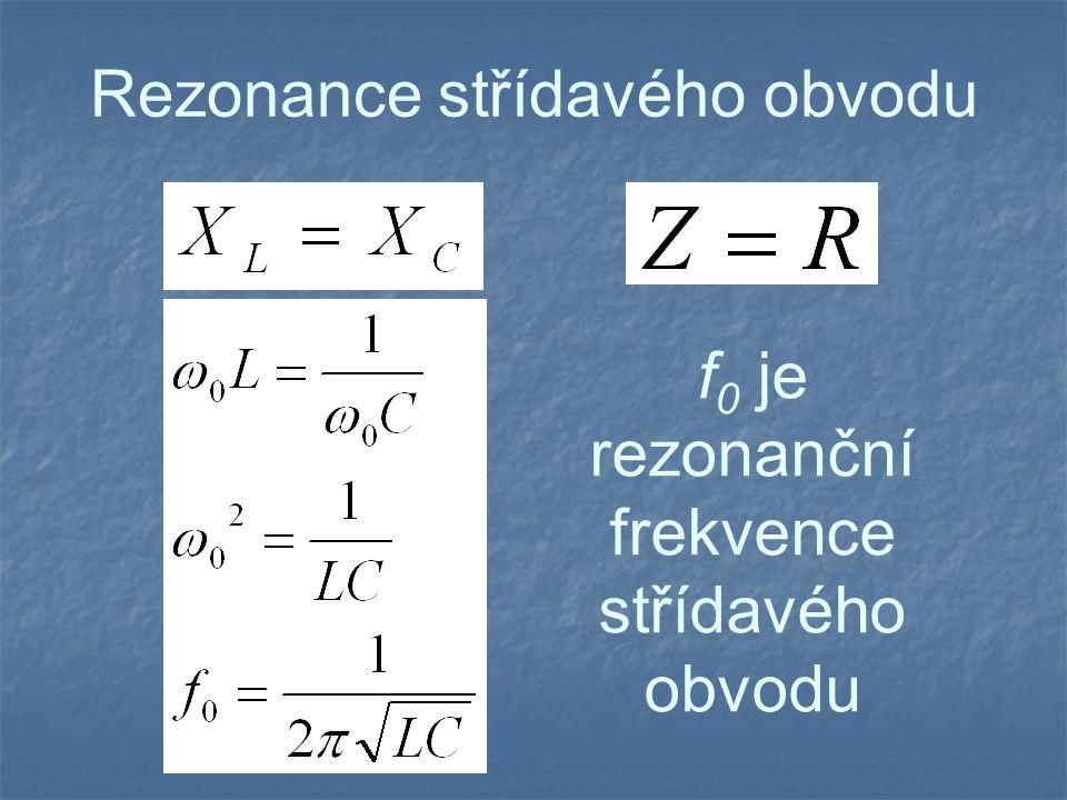 Rezonance střídavého obvodu