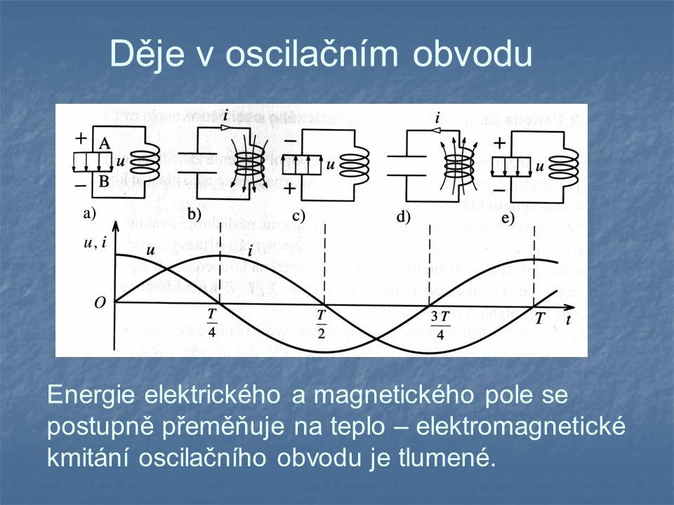 Děje v oscilačním obvodu