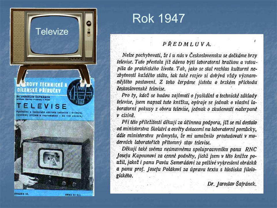 Rok 1947 Televize