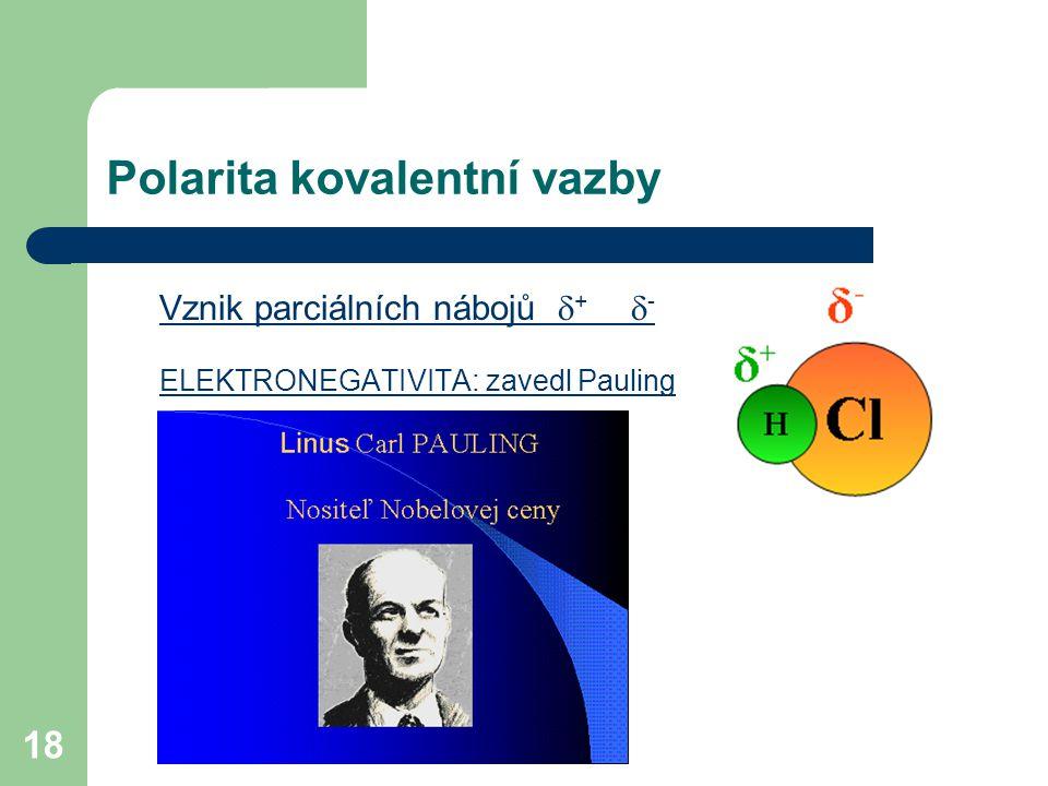 Polarita kovalentní vazby