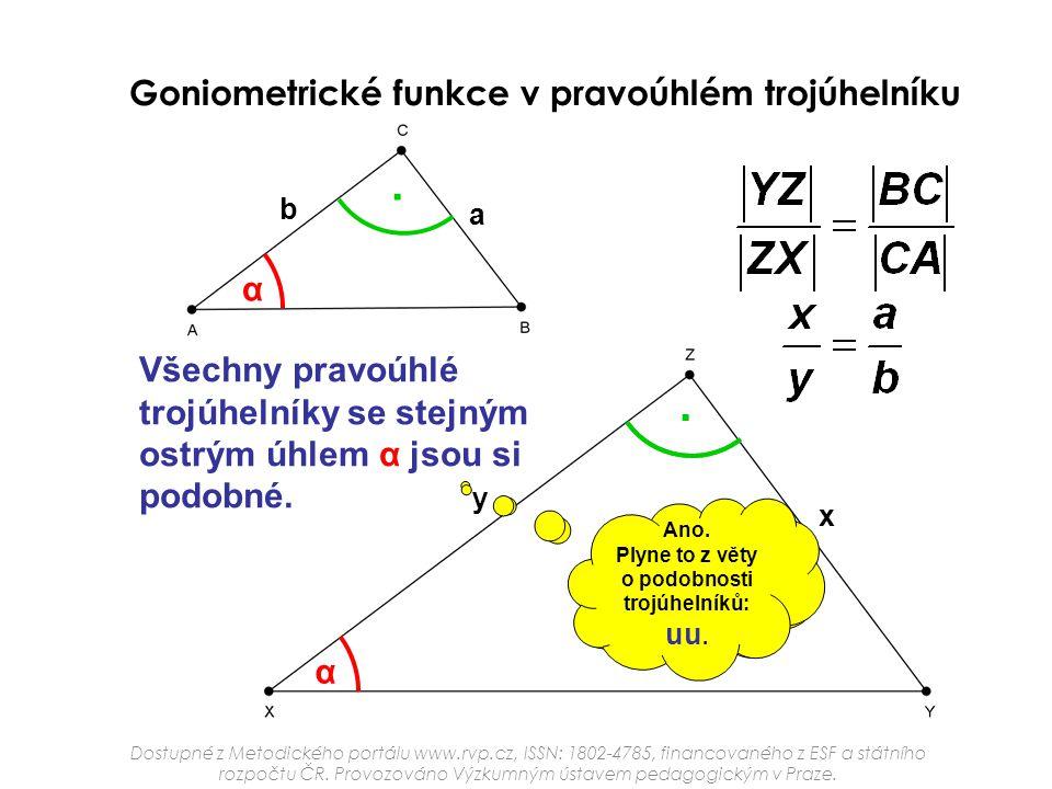 o podobnosti trojúhelníků: uu. Dokážeš zdůvodnit toto tvrzení