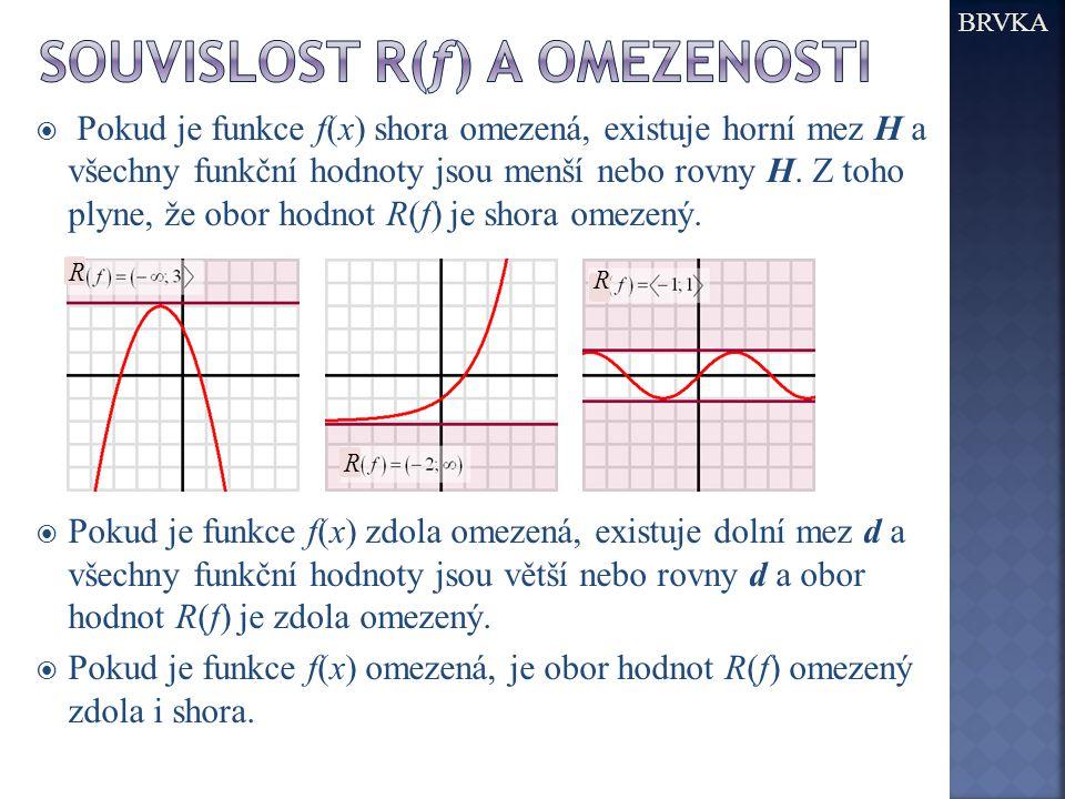 Souvislost R(f) a Omezenosti