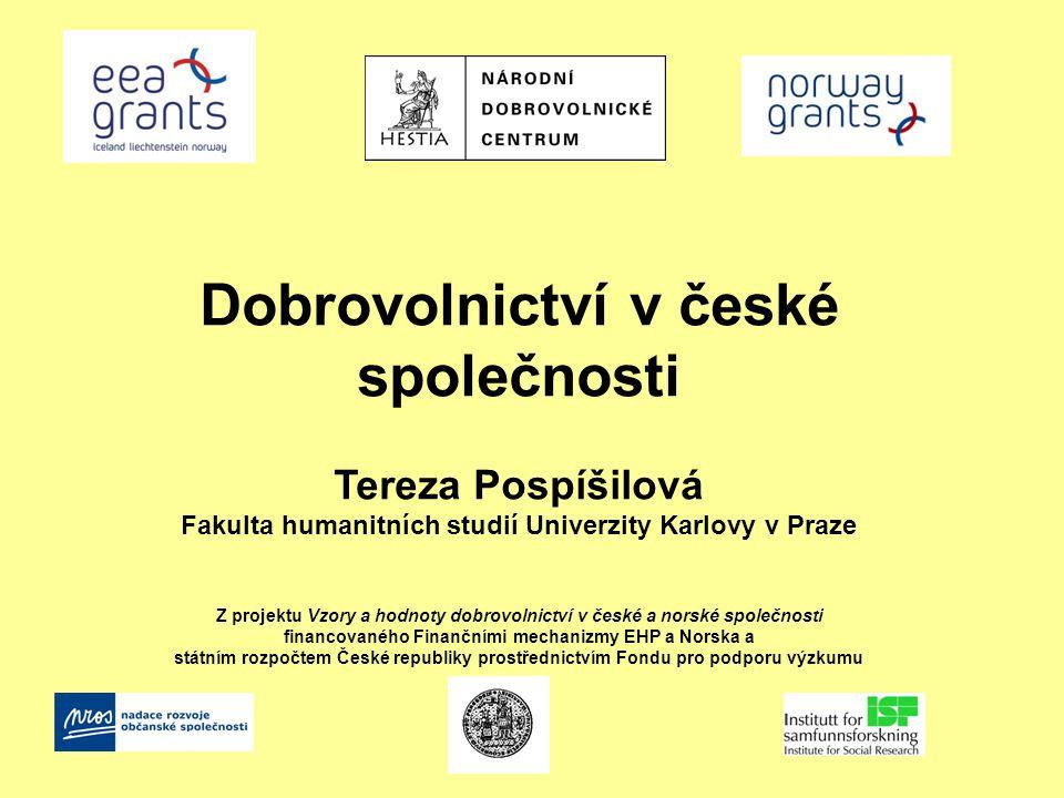 Dobrovolnictví v české společnosti