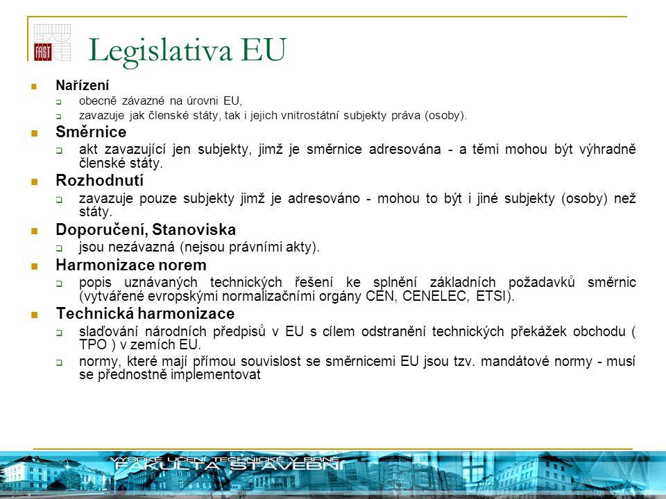 Legislativa EU Směrnice Rozhodnutí Doporučení, Stanoviska
