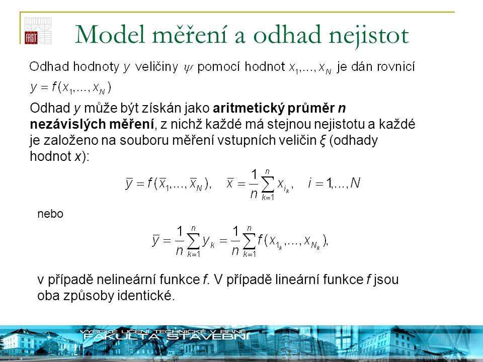 Model měření a odhad nejistot