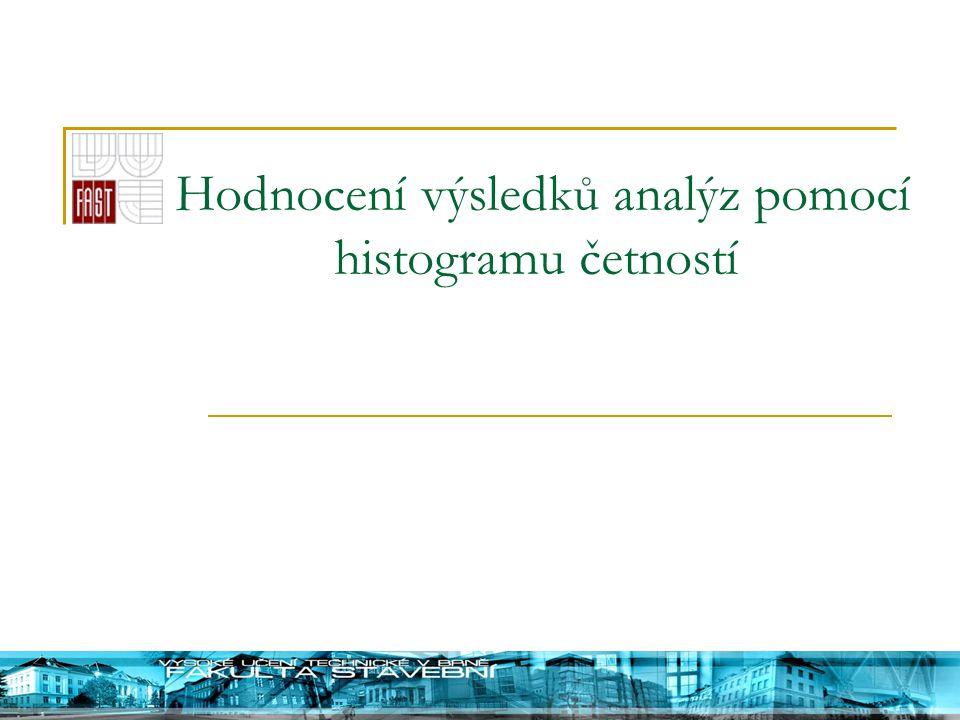 Hodnocení výsledků analýz pomocí histogramu četností
