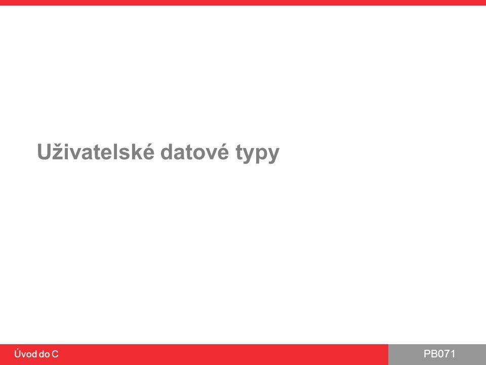Uživatelské datové typy