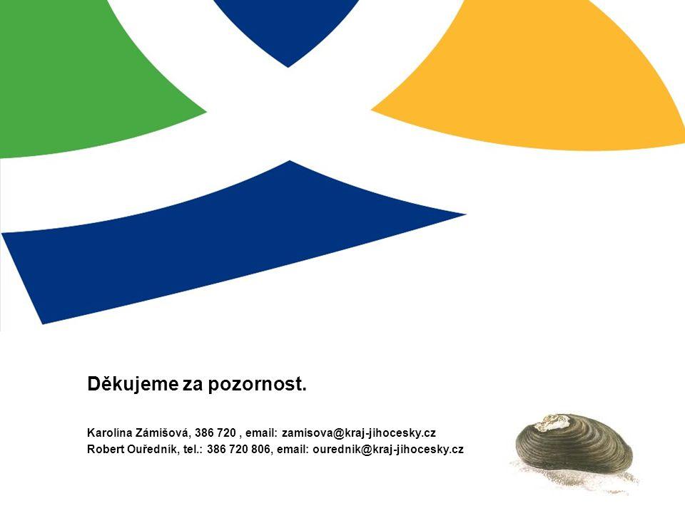 Děkujeme za pozornost. Karolína Zámišová, 386 720 , email: zamisova@kraj-jihocesky.cz.