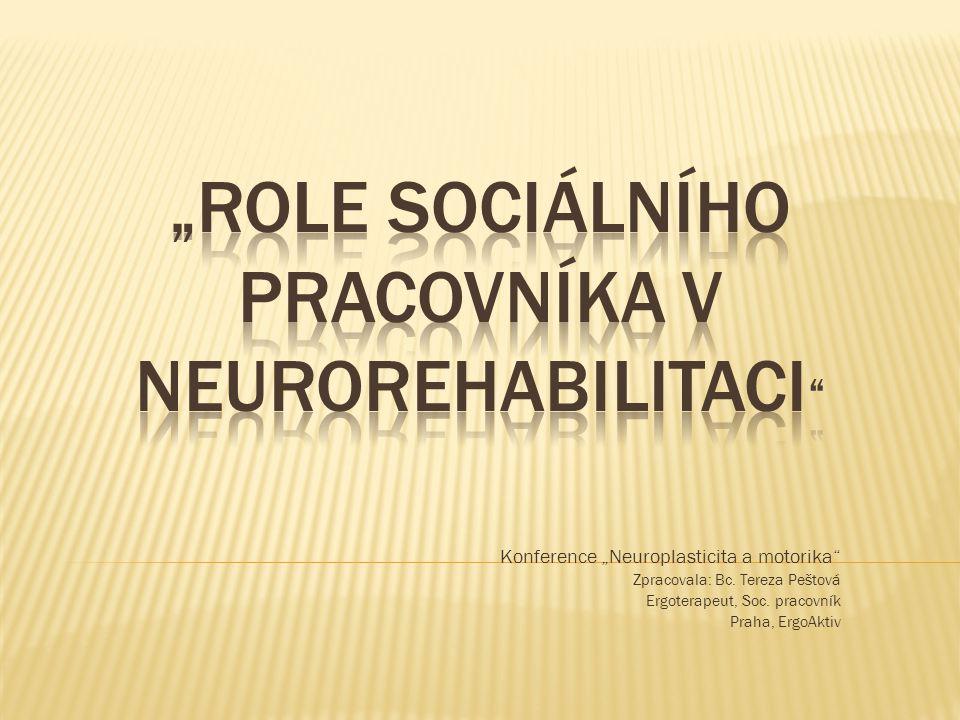 """""""Role sociálního pracovníka v neurorehabilitaci"""