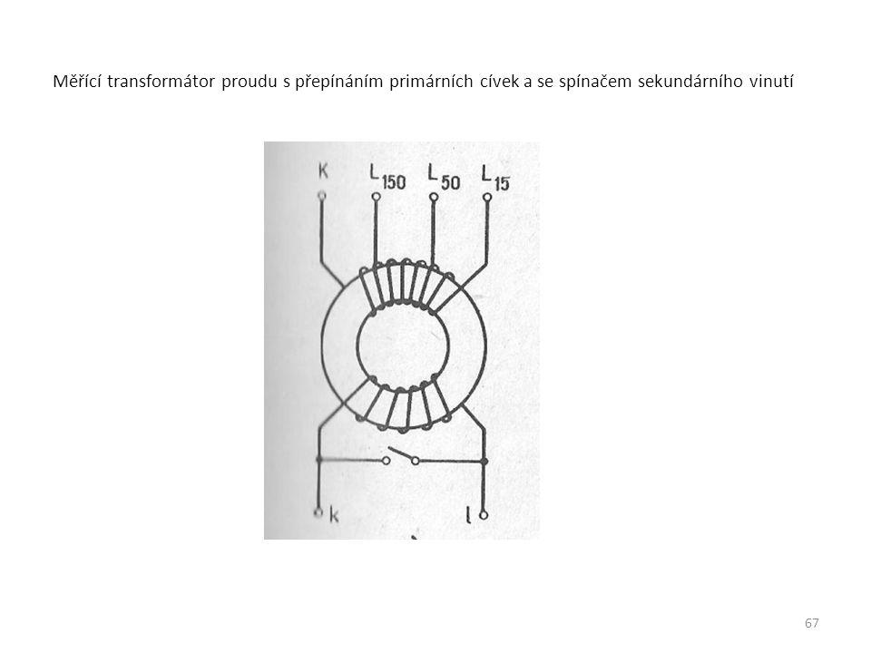 Měřící transformátor proudu s přepínáním primárních cívek a se spínačem sekundárního vinutí