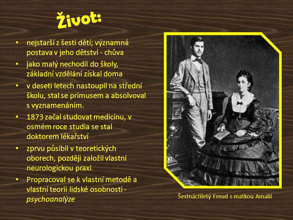 Šestnáctiletý Freud s matkou Amalií