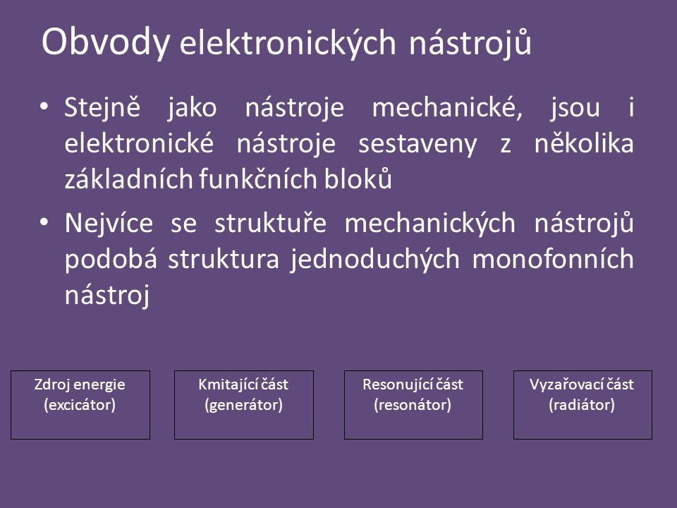 Obvody elektronických nástrojů