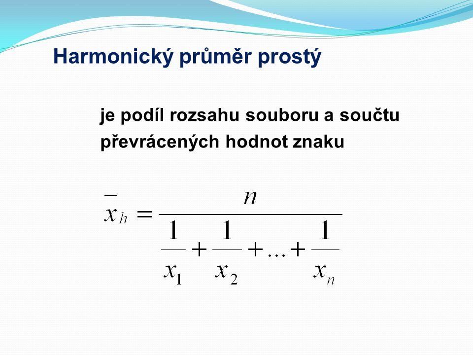 Harmonický průměr prostý