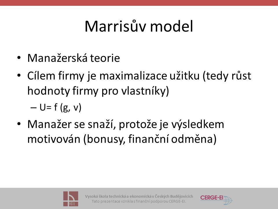 Marrisův model Manažerská teorie