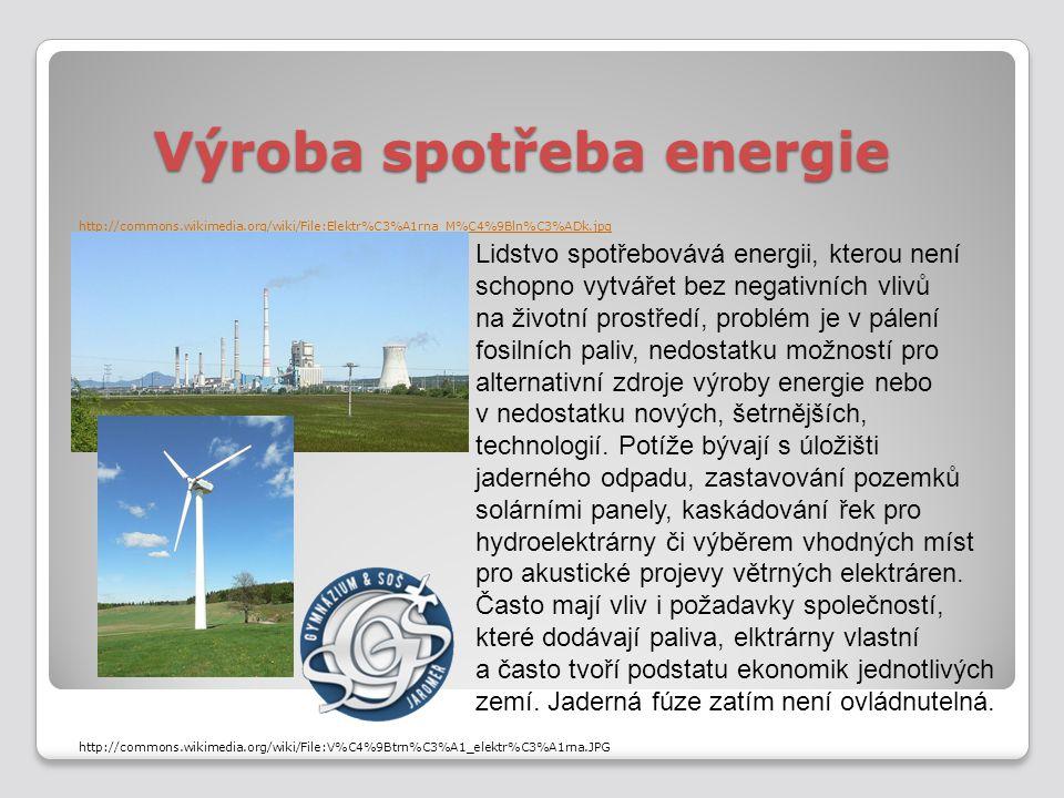Výroba spotřeba energie