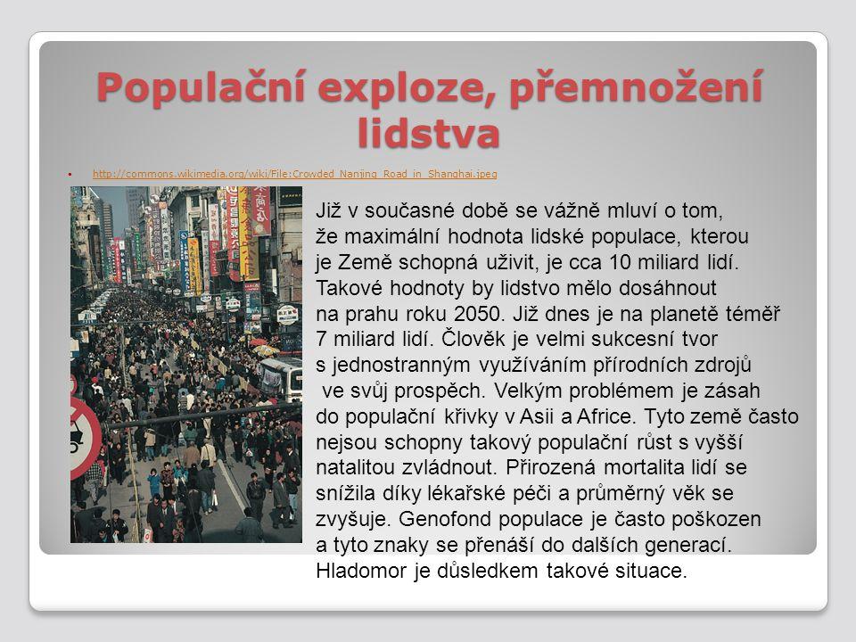 Populační exploze, přemnožení lidstva
