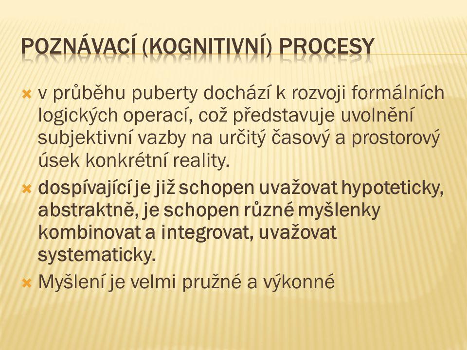 poznávací (kognitivní) procesy