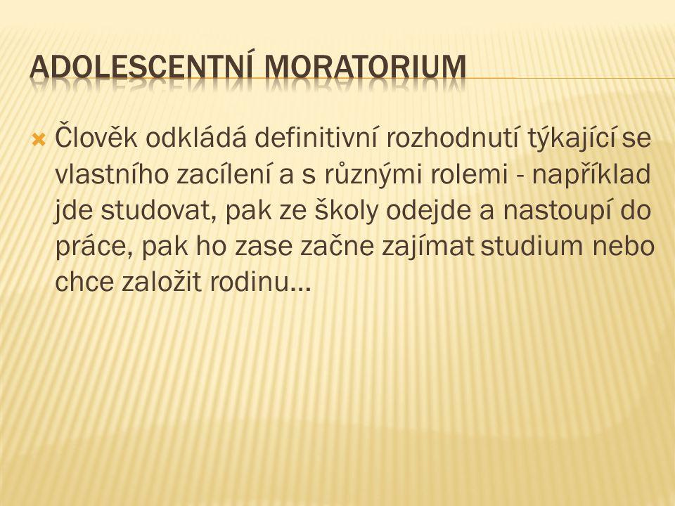 Adolescentní moratorium