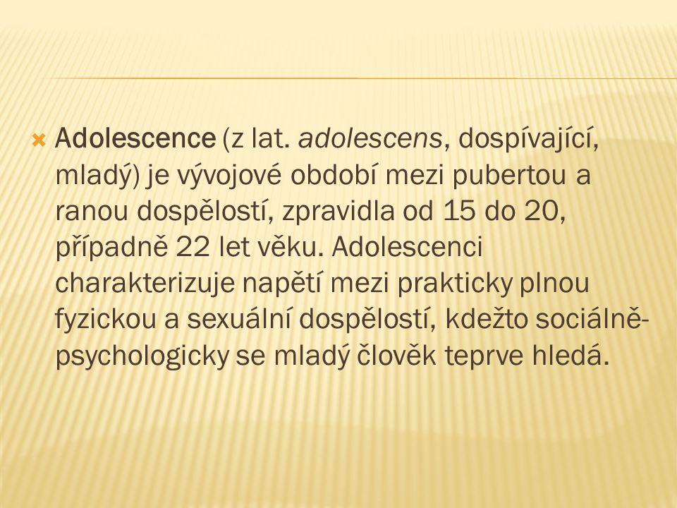 Adolescence (z lat.