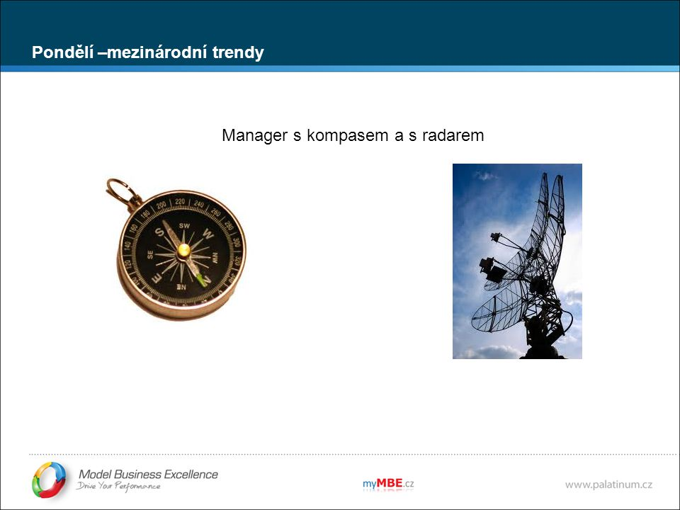 Manager s kompasem a s radarem